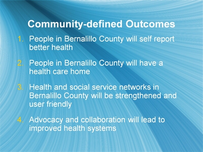 Community-defined Outcomes