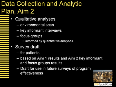 Data Collection and Analytic Plan, Aim 2