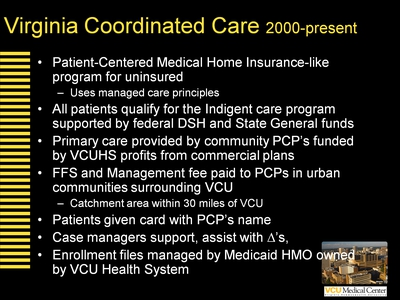 Virginia Coordinated Care 2000-present