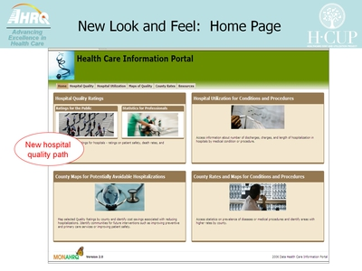 New Look and Feel: Home Page