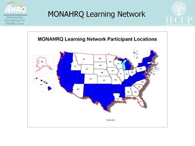 MONAHRQ Learning Network Participant Locations