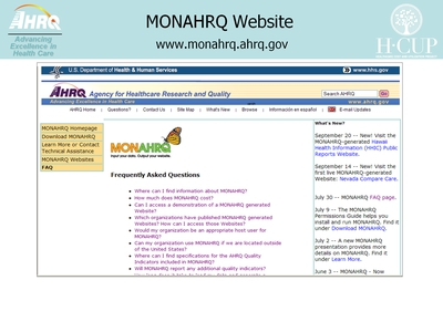 MONAHRQ Website
