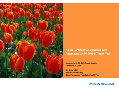 Kaiser Permanente Experience with Automating the IHI Global Trigger Tool