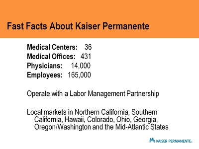 Fast Facts About Kaiser Permanente