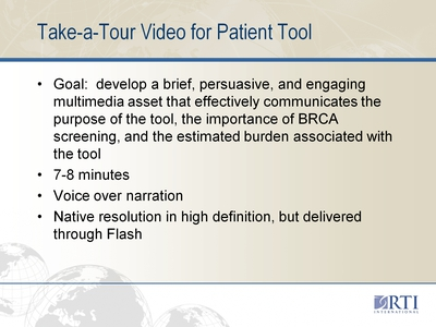 Take-a-Tour Video for Patient Too