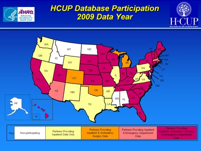 HCUP Database Participation 2009 Data Year