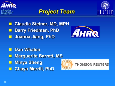 Project Team. Text Description is below the image.