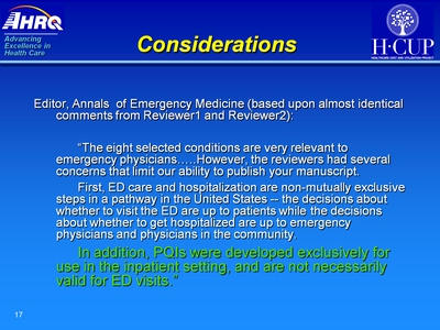 Considerations. Text Description is below the image.