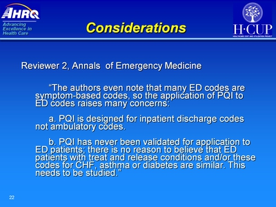 Considerations. Text Description is below the image