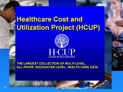 Healthcare Cost and Utilization Project (HCUP). Text Description is below the image.