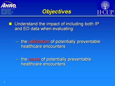 Objectives. Text Description is below the image.