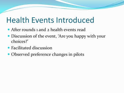 Health Events Introduced