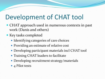 Development of CHAT tool