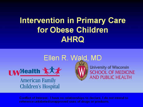 Slide 1. Intervention in Primary Care for Obese Children