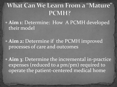 What Can We Learn From a 'Mature' PCMH?