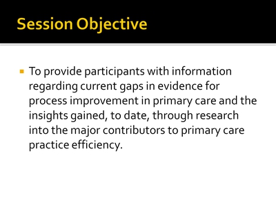 Session Objective