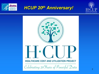 HCUP 20th Anniversary!