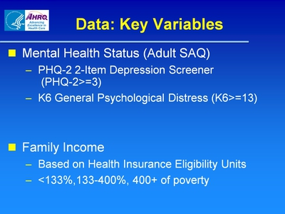 Data: Key Variables