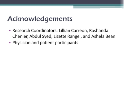 Slide 17. Acknowledgements