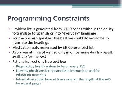 Slide 9. Programming Constraints