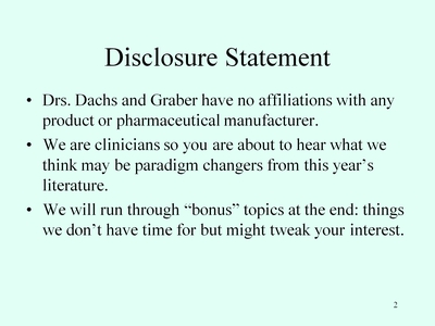 Slide 2. Disclosure Statement