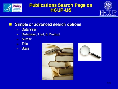 Publications Search Page on HCUP-US