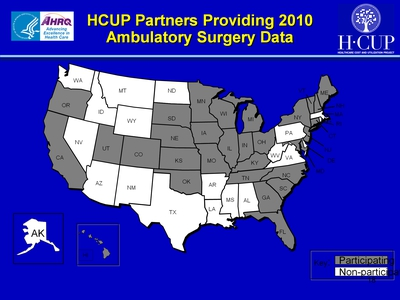 HCUP Partners Providing 2010 Ambulatory Surgery Data