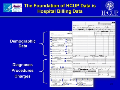 The Foundation of HCUP Data is Hospital Billing Data