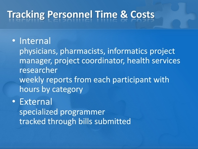 Tracking Personnel Time and Costs