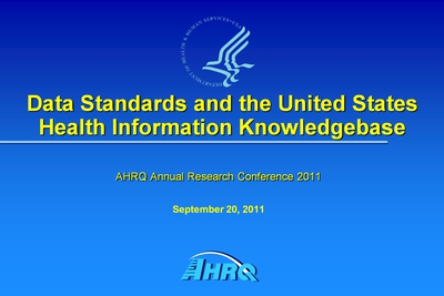 Data Standards and the United States Health Information Knowledgebase
