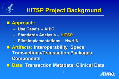 HITSP Project Background