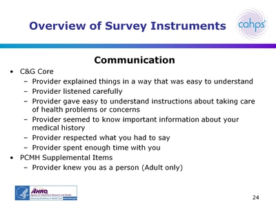 Overview of Survey Instruments