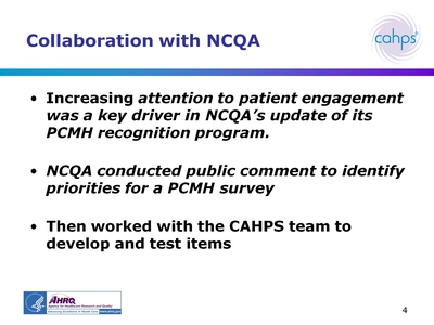 Collaboration with NCQA