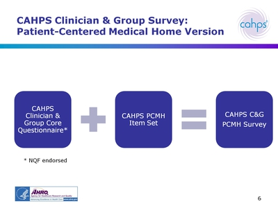 CAHPS Clinician and Group Survey: Patient-Centered Medical Home Version