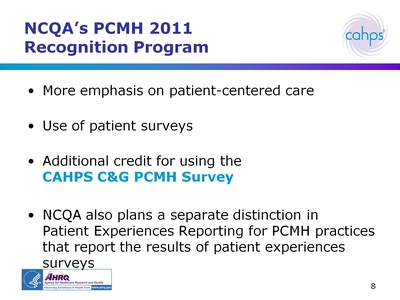 NCQA's PCMH 2011 Recognition Program