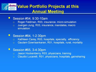 Value Portfolio Projects At This Annual Meeting