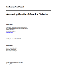 Assessing Quality of Care for Diabetes