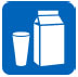 Image: Icon of a milk carton and a glass of milk