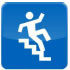 Image: Figure falling down the stairs