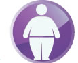 Icon shows an obese person.