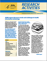 Cover of Research Activities 2012 April issue