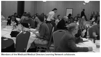Photograph: Members of the Medicaid Medical Directors Learning Network collaborate.