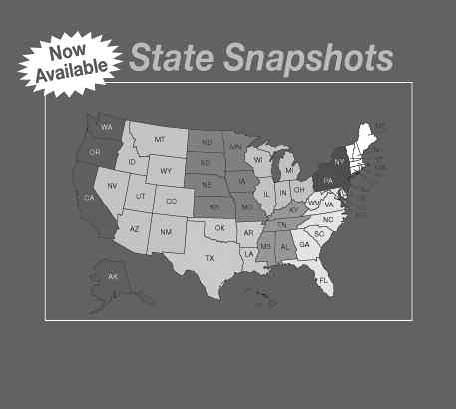 AHRQ State Snapshots promotional image of U.S. map