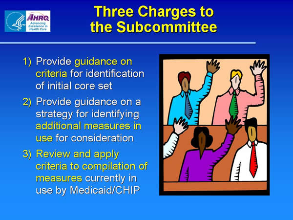 Slide 11. Three Charges to the Subcommittee
