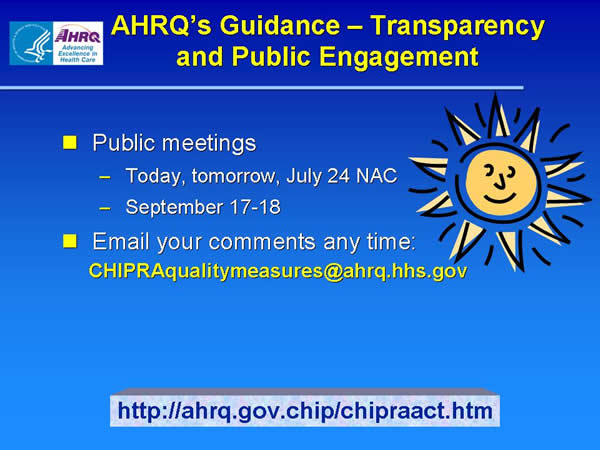 Slide 13. AHRQ's Guidance-Transparency and Public Engagement