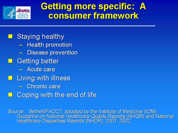 Slide 17. Getting more specific: A consumer framework