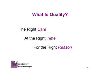 Slide 7: What Is Quality?