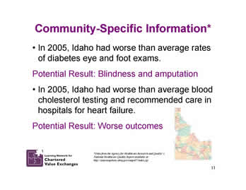 Slide 11: Community-Specific Information*