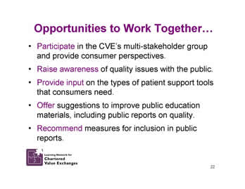 Slide 22: Opportunities to Work Together.