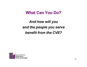 Slide 24: What Can You Do?